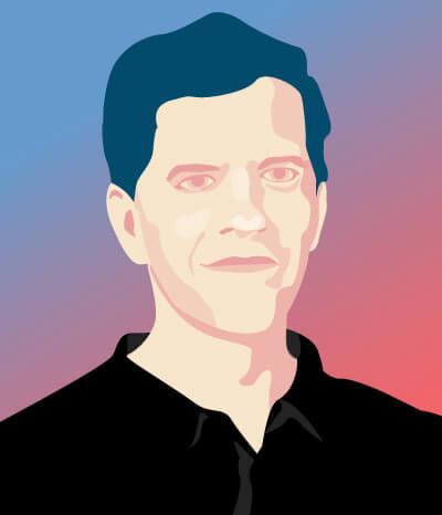Illustrated portrait of Randy Swearer