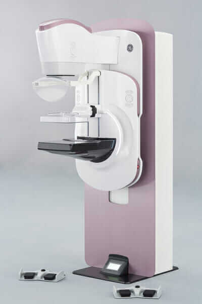 A view of the Pristina mammography machine.