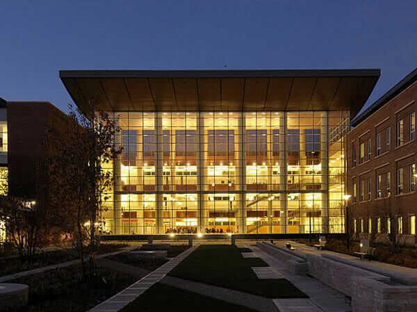 Lighting designed to minimize light pollution, on display at UniversityofIllinoisUrbana-Champaign