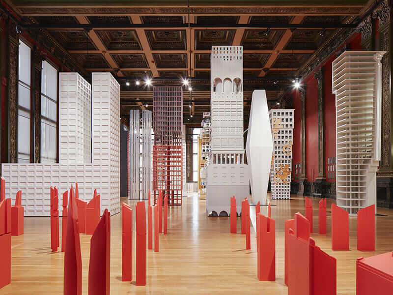 johnston marklee Chicago Architecture Biennial's 'Vertical City' exhibit