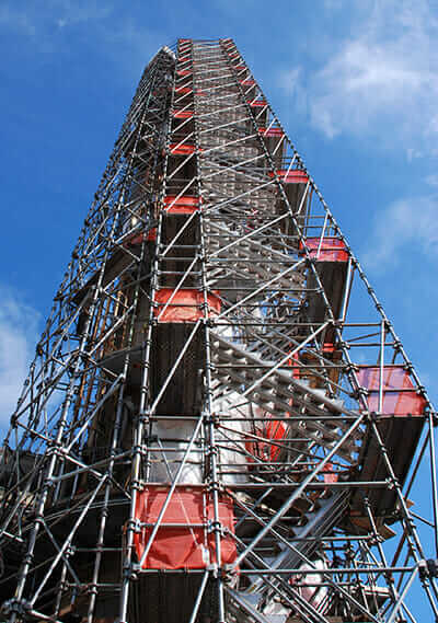 Scaffold design used at refinery