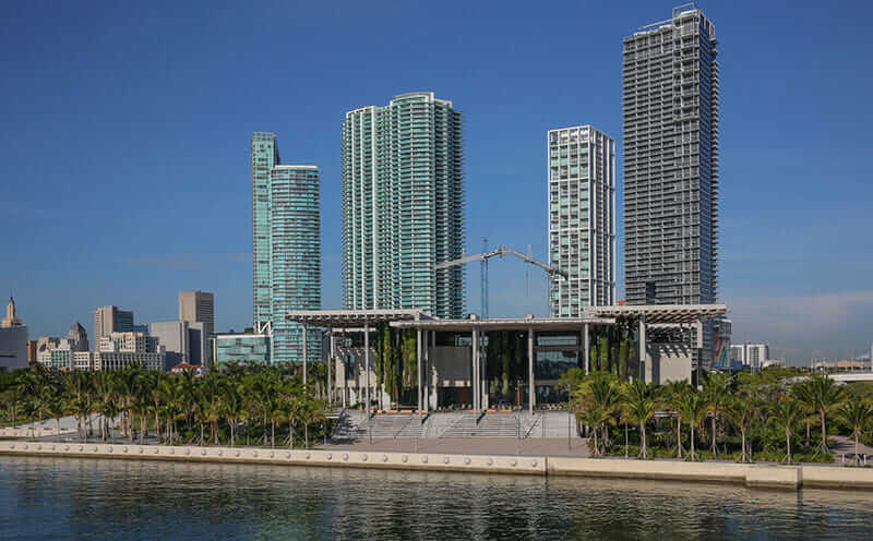 Perez Art Museum in Miami; an example of hurricane-proof buildings using ultra-high-performance concrete.