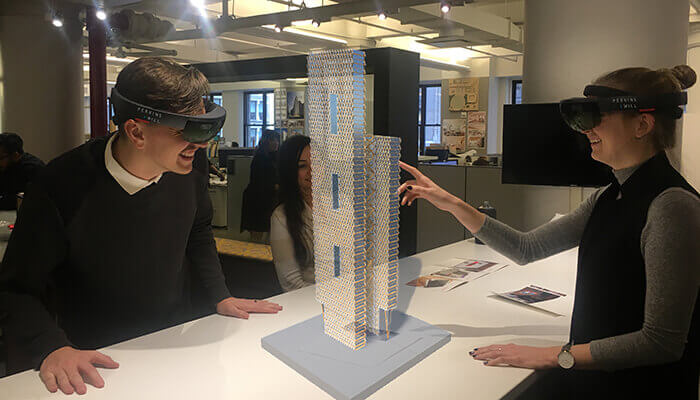 Mixed-reality technology for architects provides immersive tours of spaces