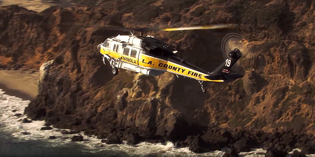 Image of Firehawk, Los Angeles County Fire Department's modified Blackhawk UH-60.