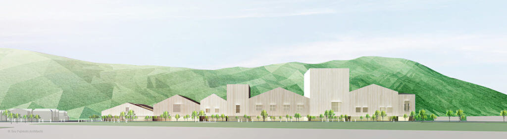 The design of Sou Fujimoto's Ishinomaki City Cultural Center.