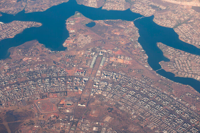 An aerial view of Brasilia.