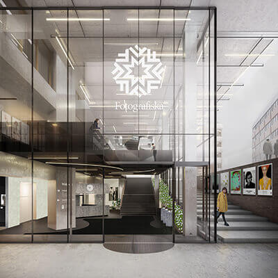 vr architecture fotografiska lobby