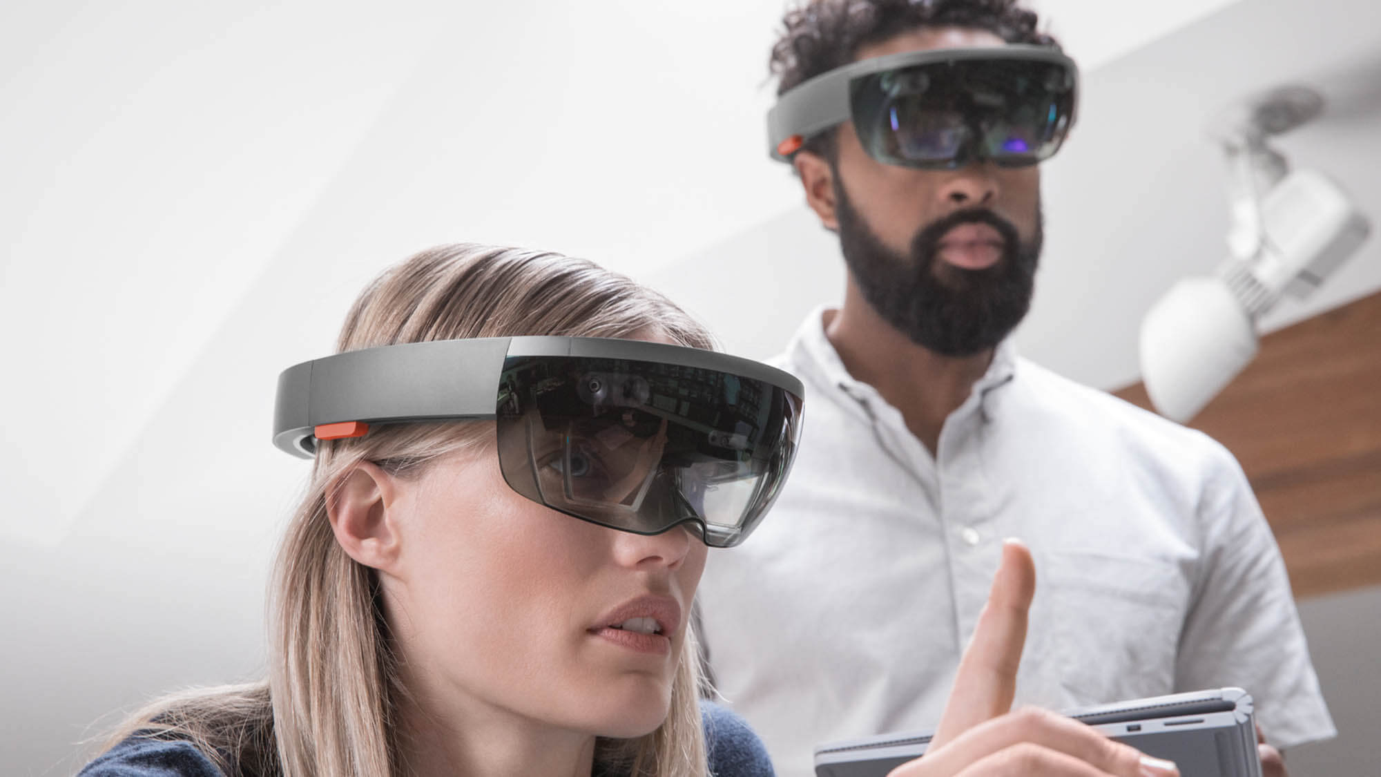mixed reality for infrastructure two people using MR at the same time