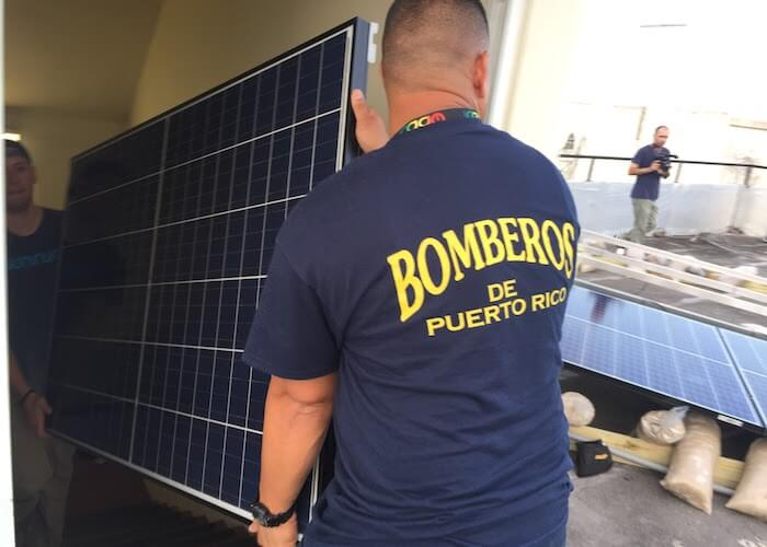 microgrid energy fire stations Puerto Rico