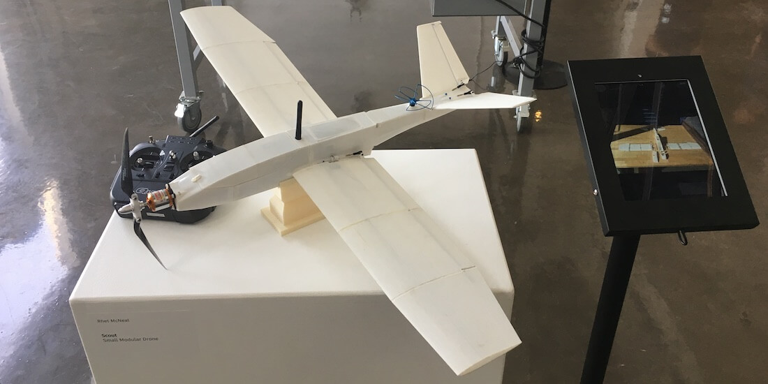advanced manufacturing technology drone on display