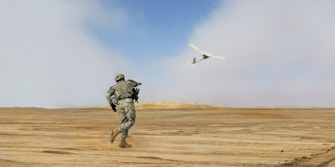 advanced manufacturing technology scout drone in flight