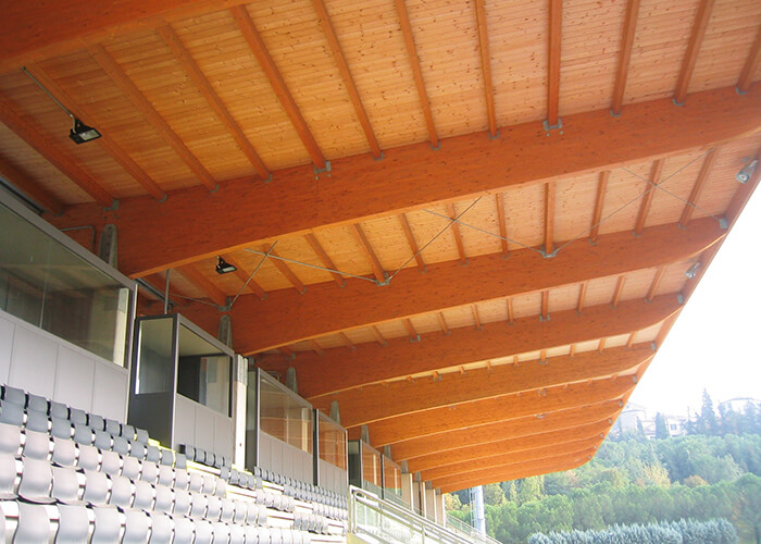 The San Marino Stadium multi-purpose wood stadium in Serravalle.