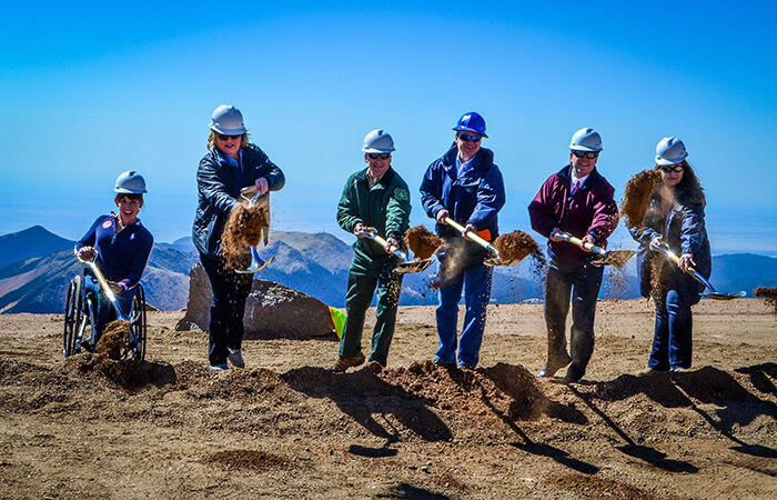extreme construction breaking ground pike's peak
