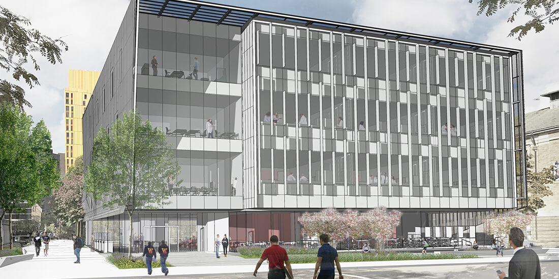 prefabricated construction rendering of the Wentworth Institute of Technology