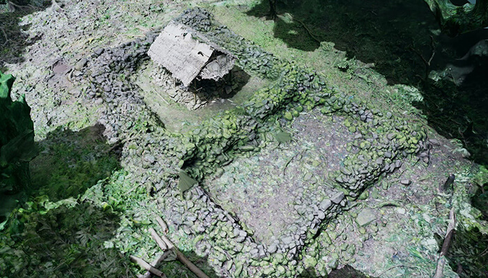 A virtual overhead view of the Menke Ruins. Using VR helped bring consensus to decision-making by providing first-hand experiences that everyone could relate to.