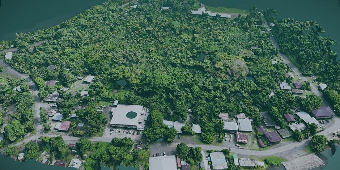 The Micronesian island of Kosrae.