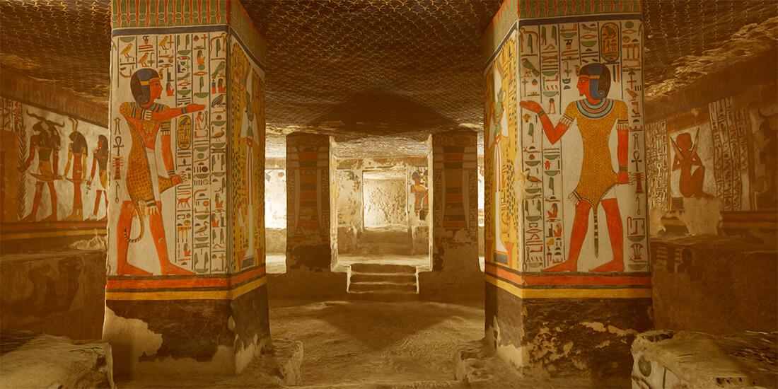 The virtual reality experience of Simon Che de Boer's 'Nefertari: Journey to Eternity.'