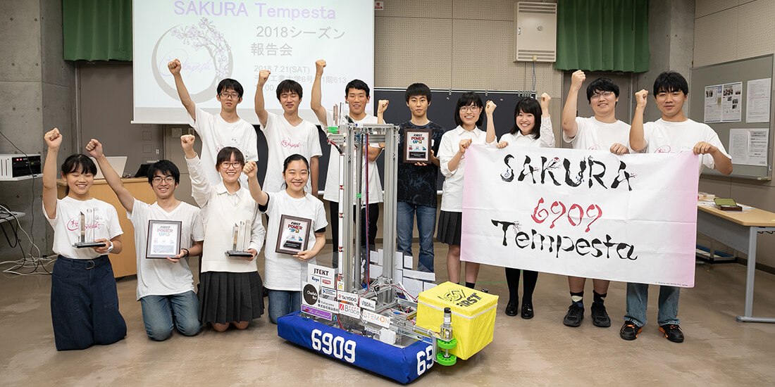 Students gather at the SAKURA Tempesta briefing session.