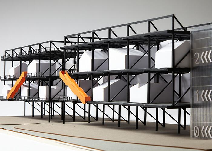 """Lige ud Design Turns a Gantry Into a Low-Cost """"Vertical Village"""" for Creatives ER34"""