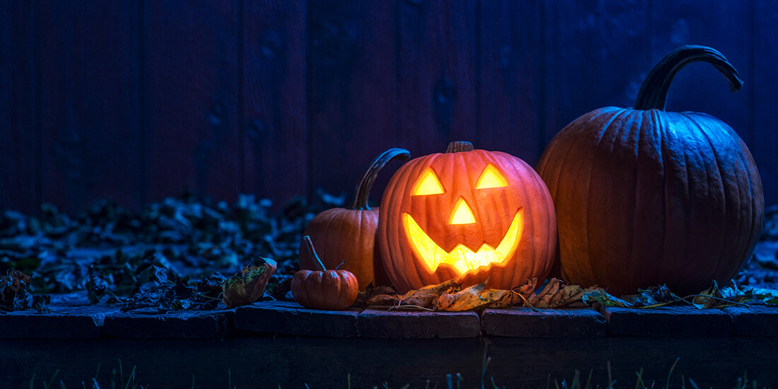 Image of a glowing jack o'lantern.