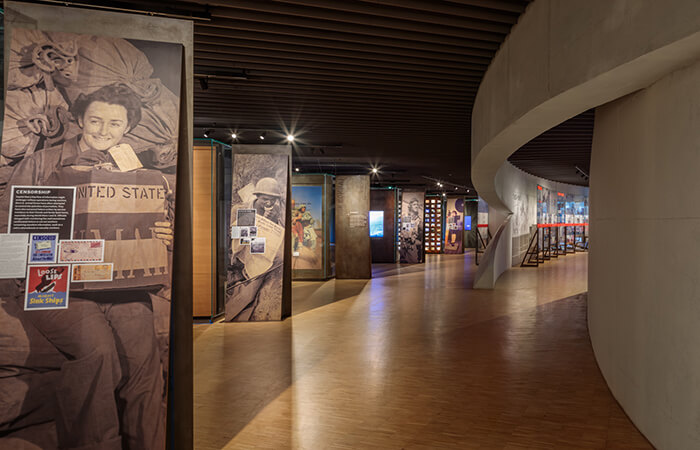 National veterans memorial and museum Exhibits