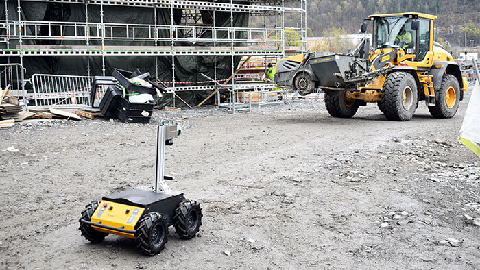 Scaled Robotics robot on construction site