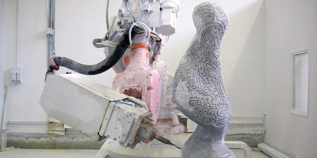 How Would Michelangelo's Sculpture Look if He'd Had Robot