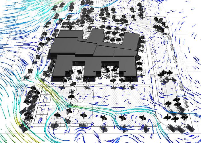 net zero buildings wind analysis