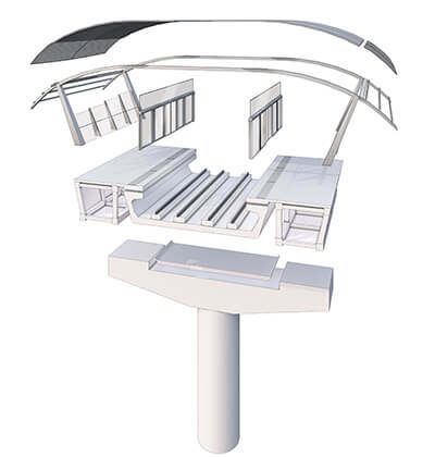 urban transportation planning bogota station rendering