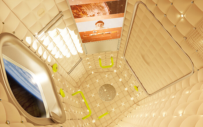 Axiom habitation module by Philippe Starck