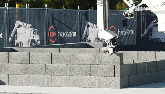 bricklaying robot hadrian x closeup