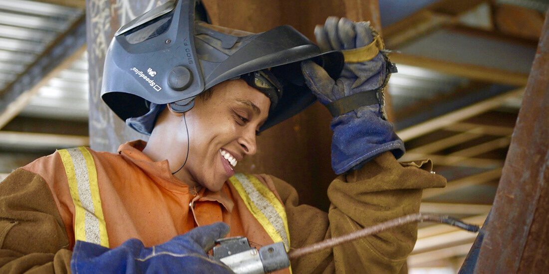 gender equality in construction industry ironworker Ambra Melendez