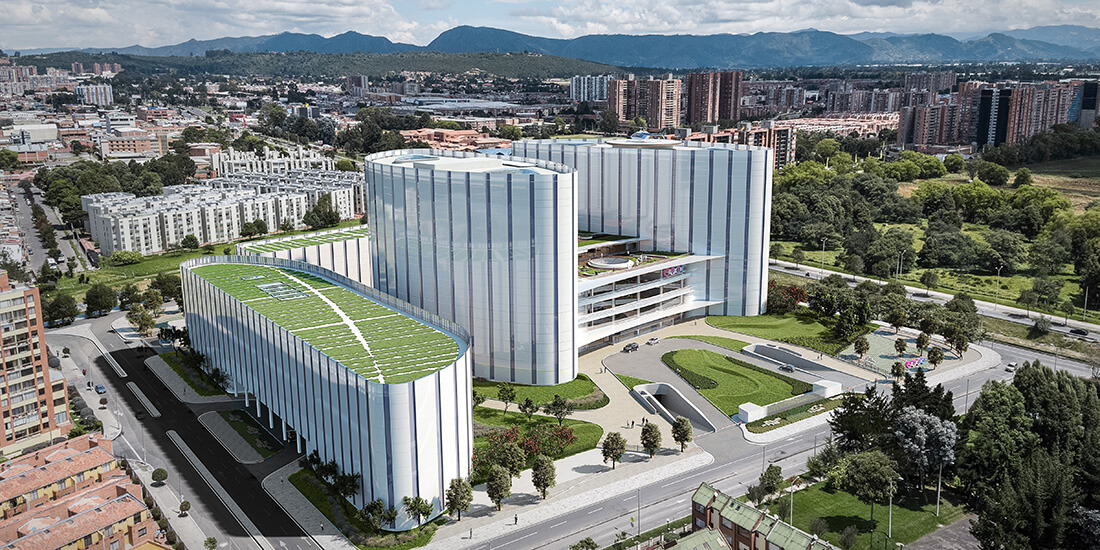 sustainable hospital design Luis Carlos Sarmiento Angulo Cancer Treatment and Research Center (CTIC) in Bogotá