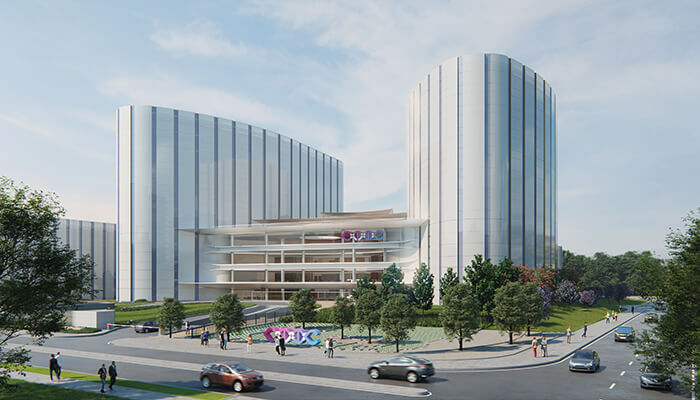 sustainable hospital design ctic towers shaped like lungs