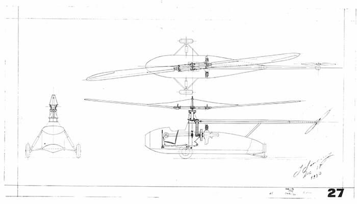 igor sikorsky helicopter sketch