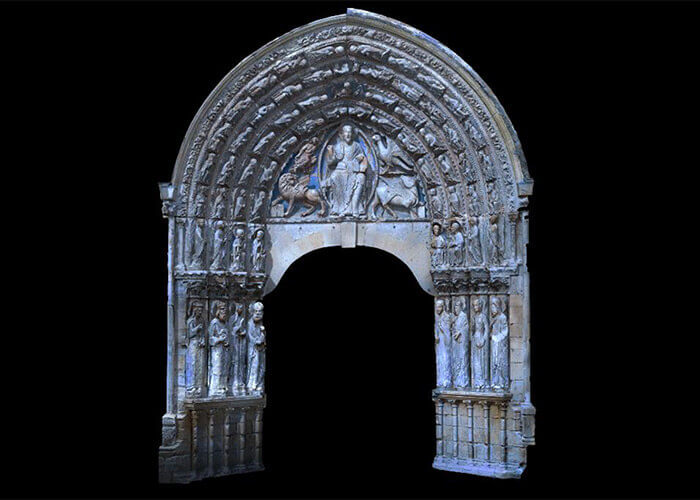 architectural preservation 3d portal angers cathedral
