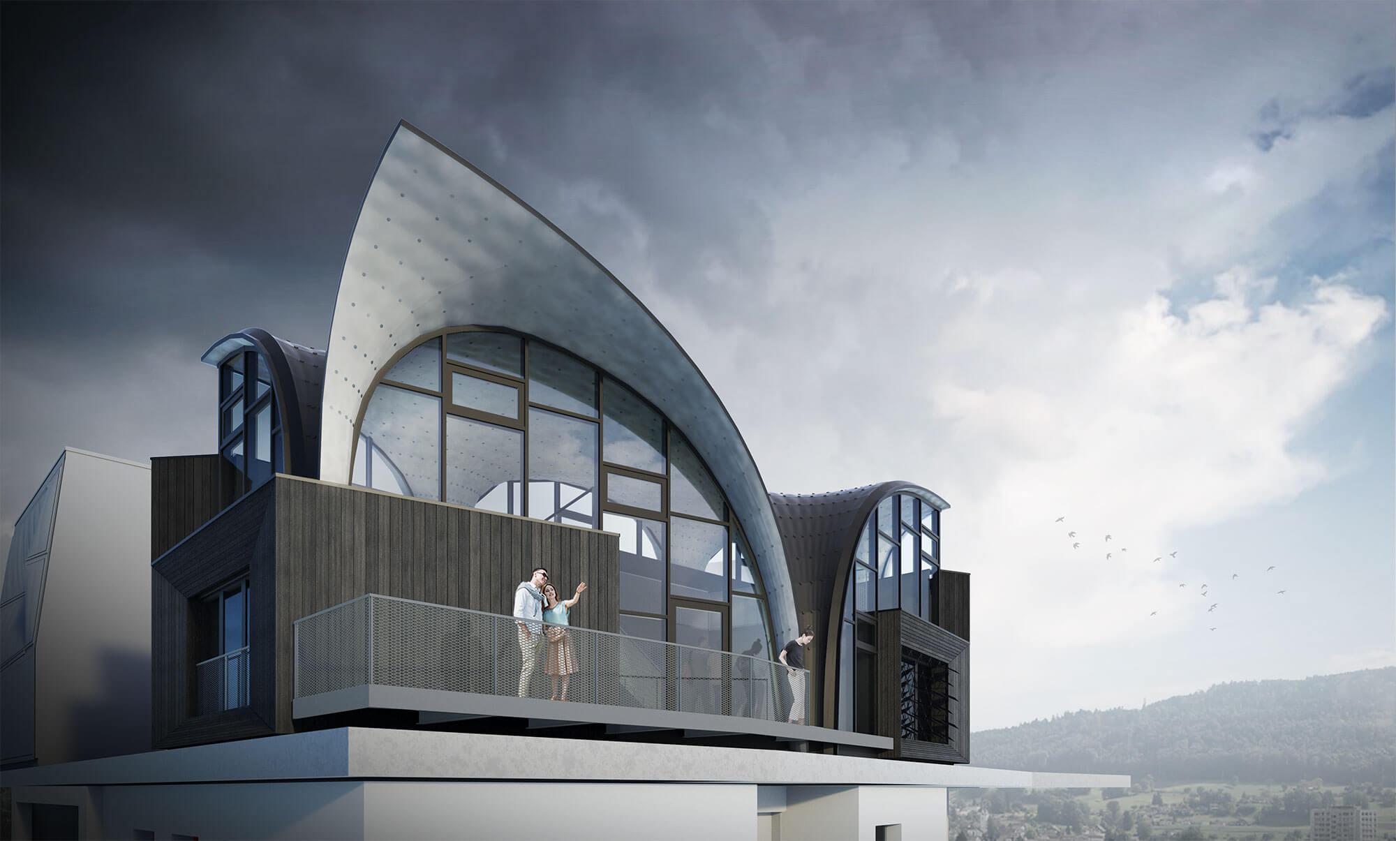 futuristic building nest hilo