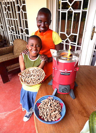 mulago foundation inyenyeri wood cooking pellets
