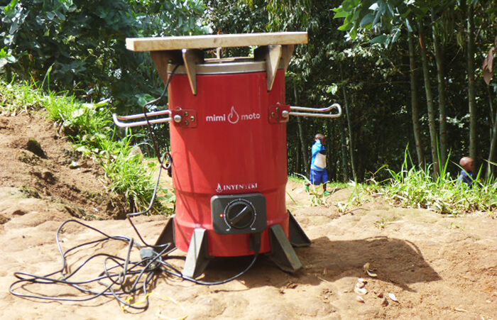 mulago foundation inyenyeri close-up of the Mimi Moto stove