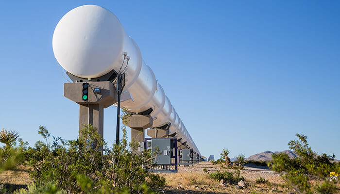 hyperloop transportation test track detail