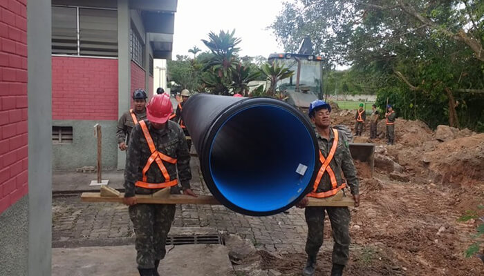 pollution guanabara bay rio hdpe pipe