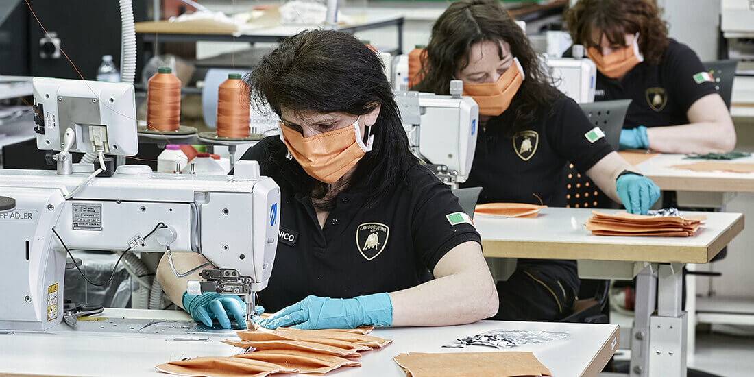 Lamborghini ventilator production