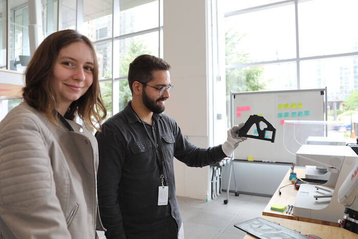 sustainable concrete Marcos Silveira and teammate Gabriela Vivan 3D printing