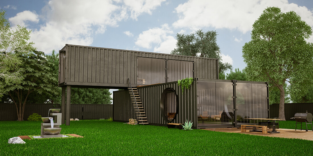 design for manufacture and assembly prefab house out of shipping containers