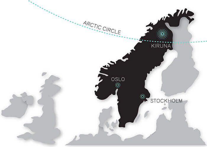 Kiruna Relocation Map
