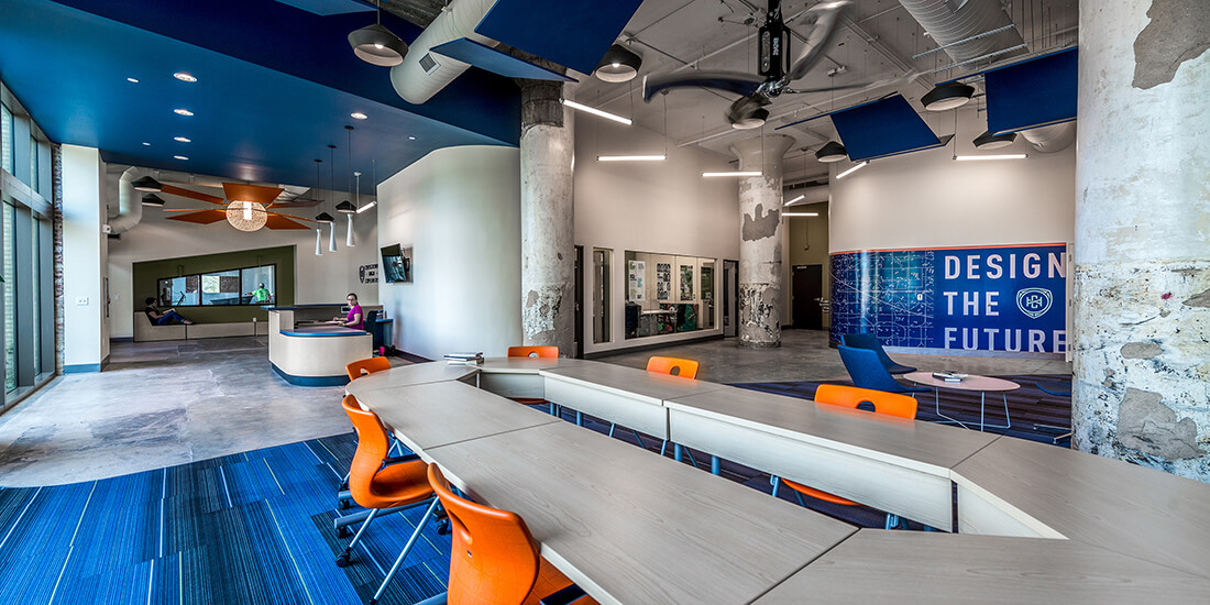 architecture design COVID-19 Crosstown High School by ANF Architects