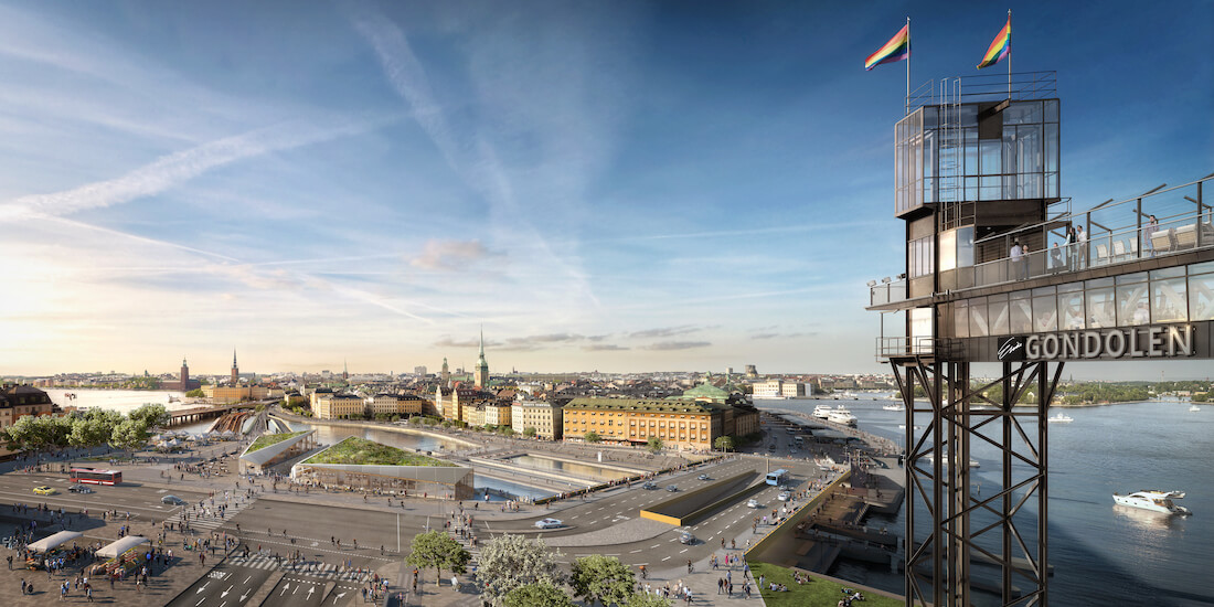 Construction digitization: new Slussen rendering