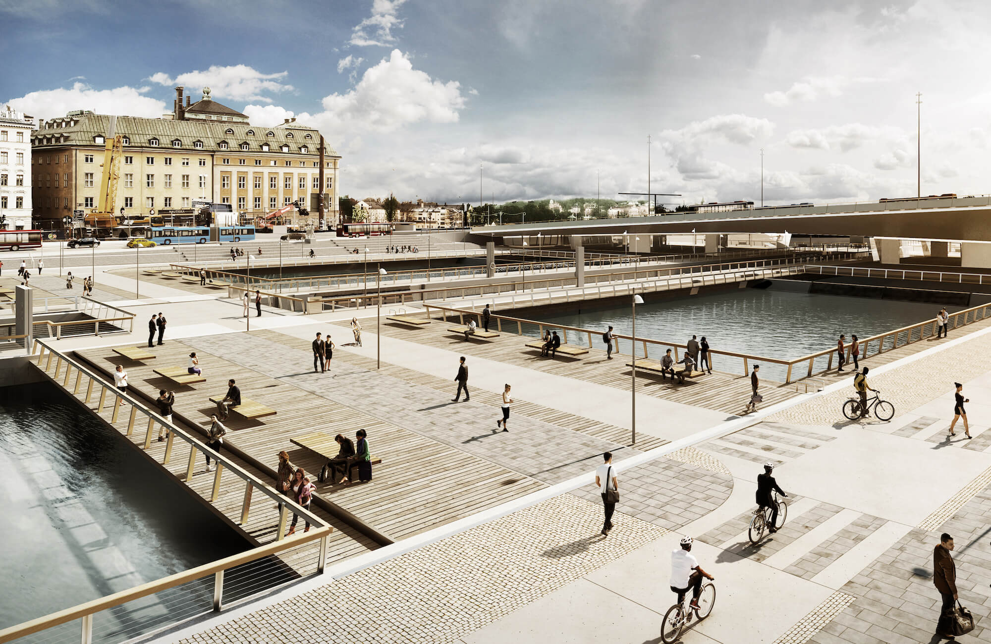 Construction digitization: new Slussen illustration