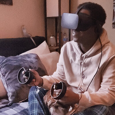 vr therapy Richon Watson tests apples and anthills experience