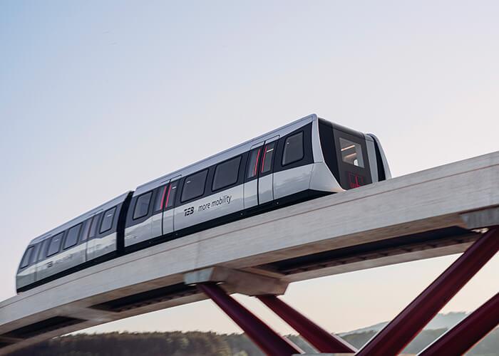 max bögl tsb maglev train on test track